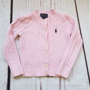 POLO RALPH LAUREN Toddler Girl Cable Knit Sweater